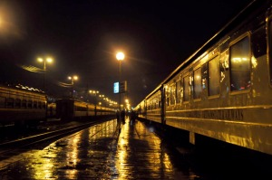 train-de-nuit- en gare